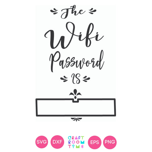 Wifi Password Printable (SVG, DXF, EPS, PNG)