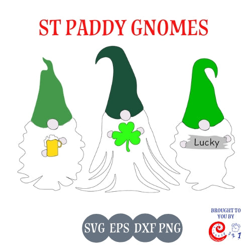 St Paddy Day Gnomes