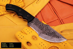 Damascus steel Hunting Tracker Knife Horn Handle -AJ 794