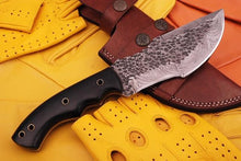 Load image into Gallery viewer, Damascus steel Hunting Tracker Knife Horn Handle -AJ 794