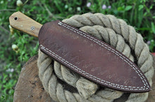Load image into Gallery viewer, Damascus Steel Hunting boot Knife OLIVE wood Handle-AJ-1629