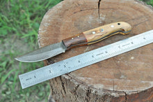 Load image into Gallery viewer, Hand Forged Damascus Hunting Knife Olive & Rose Wood Handle-AJ-1971