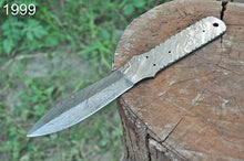 Load image into Gallery viewer, Custom Hand Forged Damascus Dagger Hunting Knife Blank Blade Full Tang -AJ-1999