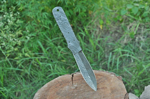 Custom Hand Forged Damascus Dagger Hunting Knife Blank Blade Full Tang -AJ-1999