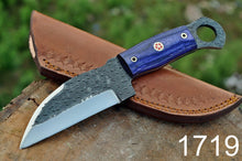 Load image into Gallery viewer, Hunting Knife High Carbon Steel Reel Rod Stain wood Handle-AJ-1719