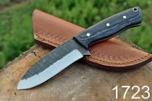 Load image into Gallery viewer, Hunting Knife High Carbon Steel Reel Rod Stain wood Handle-AJ-1723