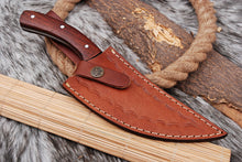 Load image into Gallery viewer, Customs Hand Forged Railroad Spike Carbon Steel Hunting Knife Rose wood Handle-AJ-2722