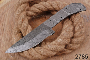 Custom Hand Forged Damascus Hunting Knife Blank Blade Full Tang -AJ-2785