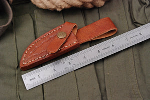 Custom Hand made pure leather sheath AJ-2802