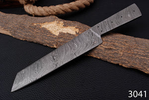 Custom Hand Forged Damascus Steel Blank Blade Full Tang-AJ-3041