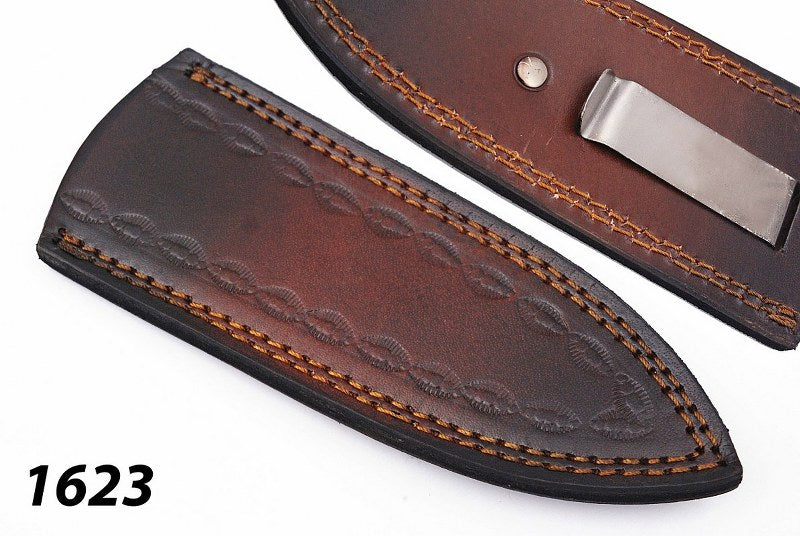 Customs Hand Made Pure Leather Sheath for Fix Blade Knife- AJ-1623
