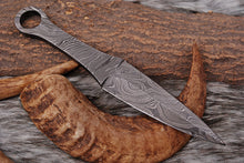 Load image into Gallery viewer, Custom Hand Forged Damascus Steel Hunting blank blade Knife AJ-2565