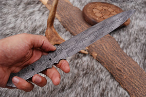 Custom Hand Forged Damascus Steel Full Tang Blank Blade AJ-2232