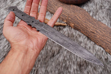 Load image into Gallery viewer, Custom Hand Forged Damascus Steel Full Tang Blank Blade AJ-2232