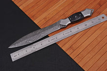 Load image into Gallery viewer, Damascus Dagger Knife Steel Bolster with Wood Handle -AJ 1537