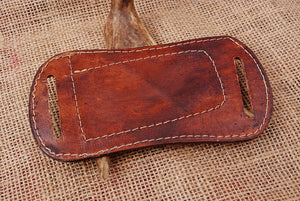 CUSTOM HAND MADE PURE LEATHER SHEATH WITH ENGRAVED AJ 3055