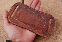 Load image into Gallery viewer, CUSTOM HAND MADE PURE LEATHER SHEATH WITH ENGRAVED AJ 3055