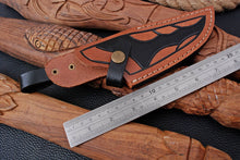 Load image into Gallery viewer, CUSTOM HAND MADE GENUINE LEATHER SHEATH WITH ENGRAVED AJ 3203