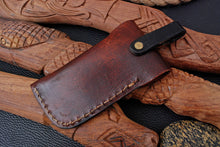 Load image into Gallery viewer, CUSTOM HAND MADE GENUINE LEATHER SHEATH WITH ENGRAVED AJ 3206
