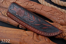 Load image into Gallery viewer, CUSTOM HAND MADE GENUINE LEATHER SHEATH WITH ENGRAVED AJ 3222