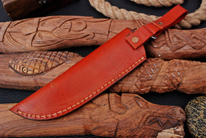 CUSTOM HAND MADE GENUINE LEATHER SHEATH WITH ENGRAVED AJ 3224