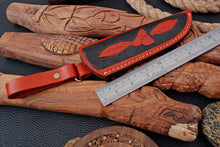 Load image into Gallery viewer, CUSTOM HAND MADE GENUINE LEATHER SHEATH WITH ENGRAVED AJ 3224