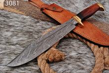 Load image into Gallery viewer, Custom Hand Forged Damascus Steel Bowie Knife-AJ-3081
