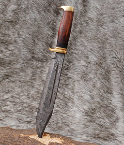 Custom Hand Forged Damascus Steel Bowie Knife-AJ-3081
