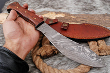 Load image into Gallery viewer, Custom Hand Forged Damascus Steel Kukri Knife-AJ-3091