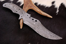 Load image into Gallery viewer, Custom Hand Forged Damascus Steel Hunting blank blade Knife AJ-0041