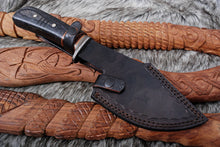 Load image into Gallery viewer, Custom Hand Forged Damascus Steel Hunting Knife AJ 3250