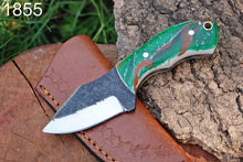 Load image into Gallery viewer, Custom Hand Made Forged Steel Hunting Knife Resin Handle-AJ-1855