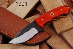 Hand Made Forged Steel Hunting Knife Olive Wood Handle-AJ-1901
