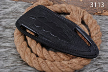 Load image into Gallery viewer, CUSTOM HAND MADE GENUINE LEATHER SHEATH WITH ENGRAVED AJ 3113