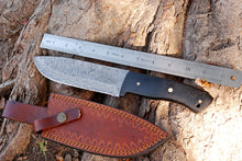 Load image into Gallery viewer, product image Custom Hand Forged Damascus Hunting Knife with Micarta Handle-AJ-2887
