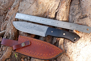 product image Custom Hand Forged Damascus Hunting Knife with Micarta Handle-AJ-2887