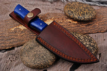 Load image into Gallery viewer, Custom Hand Made Damascus Steel Hunting Knife with Bone Handle-AJ 2915