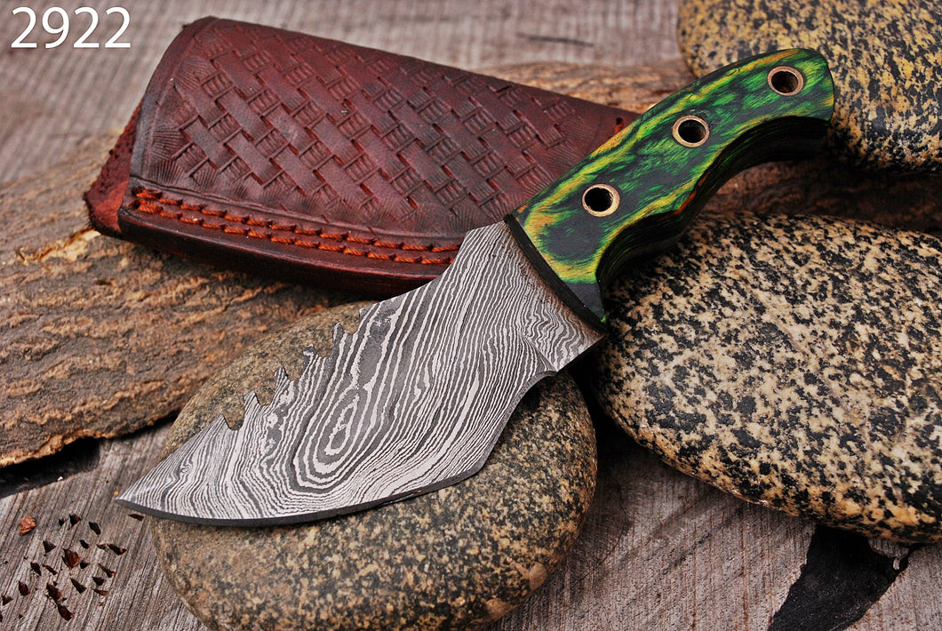 Custom Hand Forged Carbon Steel Hunting MINATURE Knife with Stain Wood Handle AJQ-2922