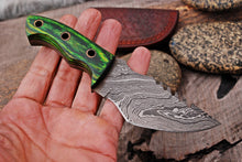 Load image into Gallery viewer, Custom Hand Forged Carbon Steel Hunting MINATURE Knife with Stain Wood Handle AJQ-2922