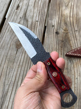 Load image into Gallery viewer, Customs Hand Forged Railrod Spike Carbon Steel Hunting Knife Stained Wood Handle-AJ-099
