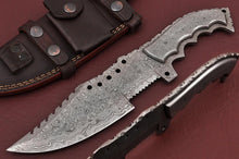 Load image into Gallery viewer, Customs Hand forged Damascus Steel hunting tracker knife full tang Damascus-AJ 168
