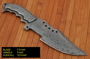 Customs Hand forged Damascus Steel hunting tracker knife full tang Damascus-AJ 168