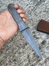 Load image into Gallery viewer, Custom Hand Forged Damascus Steel Full Tang Hunting knife AJ-50
