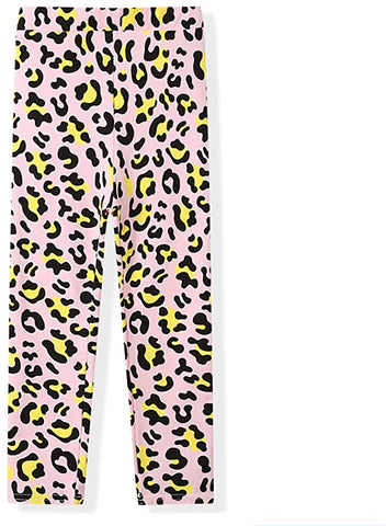 BOBORA Girl Leggings Fashion Leopard Print Stretchy Pants for Girls