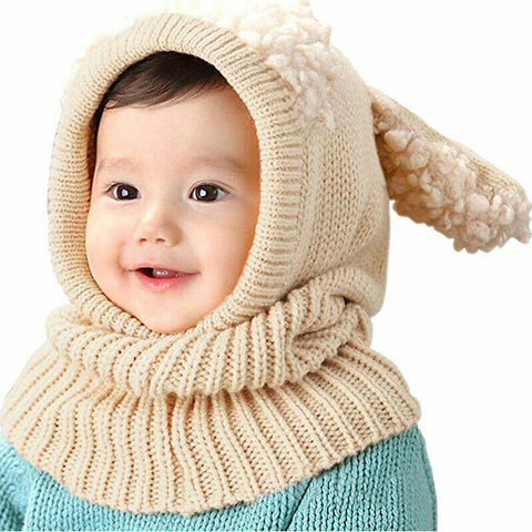 Baby Hat Scarf Crochet Beanie Ear Knitted Cap Cat Winter Autumn Warm Knit Baby Cap Kids Hat Boy Girl Caps Knit Hat