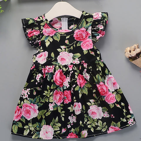 Girls Dress Summer New Baby Girl Toddler Baby Girls Kids Dresses Cotton Floral Princess Dress Girls TuTu Dresses