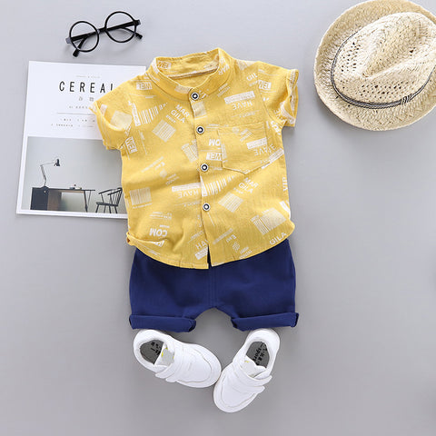 2020 Summer Fashion Toddler Baby Boys Kids Clothes T-shirt+Shorts Letter Cotton Children's Clothing Sets 1 2 3 4 Y Short Sleeve