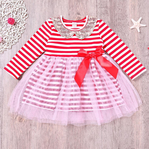 Baby Girls Cute Princess Sequins Party Birthday Kids Dresses Baby Girls Clothes Toddler Baby Dress