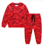 Baby Boys Cartoon Clothing Sets Cute Car Printed Warm Sweatsets for Baby Boys Girls Kids Clothes Costume Children Spring Clothes
