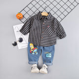 2020 Spring Kids Warm Kids Costumes Set Boy Children's Fashion Plaid Suit Boys Clothes Baby Kids Clothing Sets Boy Outfits Brand